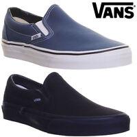 Vans Classic Slip On Black Navy Trainers Size UK 3 - 9