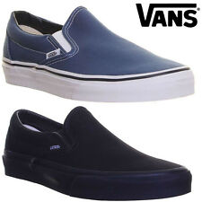 Vans Classic Slip On Black Navy Trainers Size UK 3 - 9