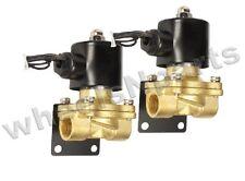 """Air Ride Suspension Brass Valves & Brackets Two 3/8""""npt 12V Solenoid Custom Part"""