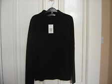 BNWT LADIES ACRYLIC LONG SLEEVE TURTLE/NECK JUMPER SIZE 8 WARM CHOCOLATE BROWN