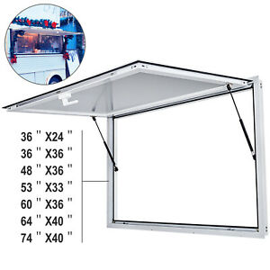 "36"" 48"" 53"" 60"" 64"" 74""Concession Stand Trailer Serving Window Awning Food Truck"