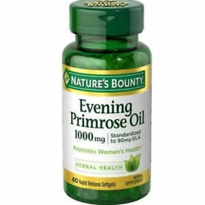 Nature's Bounty Evening Primrose Oil 1000 mg Softgels 60 ea (Pack of 8)