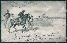 Militari Romans d'Isonzo Versa Ponte di Lancieri Firenze cartolina QT7933