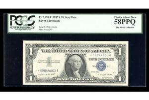 1957-A Silver ⭐️STAR Fr. 1620* PCGS 58 PPQ Serial *59844863A
