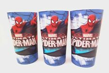 Marvel Ultimate Spider-Man Boy's 3D Plastic Reusable Party Cups 3 Piece Set NEW