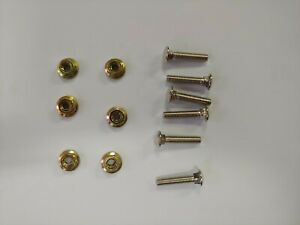 Sega control panel carriage bolts for Video Machine Arcade Parts [x6 pairs]