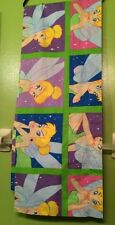 "Disney Tinker Bell Fairies Valance 84"" L X 17 3/8"" Hgt. Made in USA New York"