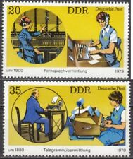 DDR Mi.-Nr. 2400-2401 postfrisch Fernsprechvermittlung u. Telegrammübermittlung