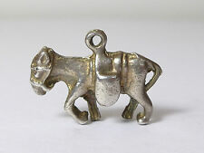 CHARMING VINTAGE SOLID SILVER MULE CHARM PACK HORSE DONKEY