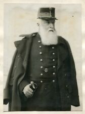 ORIGINAL PRESS PHOTO KING LEOPOLD II KING OF THE BELGIANS IN UNIFORM