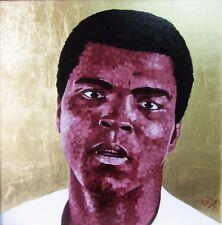 """""""Float come una farfalla"""" - SPLENDIDA GRANDE dipinto ad olio originale di Muhammad Ali"""