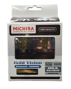 Michiba HB4  12v 55w 3000K Gold Vision Bulbs (Yellow)