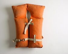 Vintage Adult Orange Flotation Buoyant Vest Safety Life Jacket Type 2