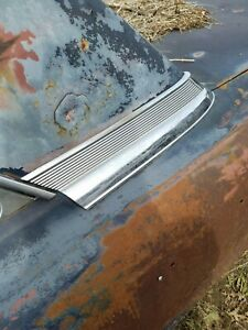 1962 FORD GALAXIE 500 2DR COUPE LH DRIVERS REAR C-PILLAR CHROME TRIM MOLDING