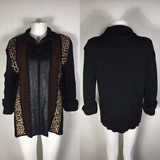Rare Vtg Jean Paul Gaultier Animal Print Suede Sweater M
