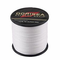 Superb 100M 300M 500M 1000M White PE Dyneema Dorisea Fishing Braided Line