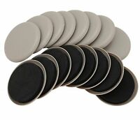 """3-1/2"""" Round Carpet Furniture Sliders 16-Pack in Resealable Bag by Smart Surface"""
