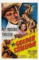 OLD LARGE ROY ROGERS COWBOY MOVIE POSTER, The Golden Stallion 1949