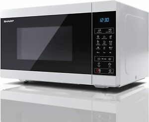 Microwave SHARP 25L 900W Digital Touch Control with 1000W Grill - White