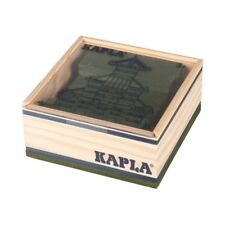 Kapla 40 Box Green Pine Wood Building Blocks Box (C40V) NEW! #