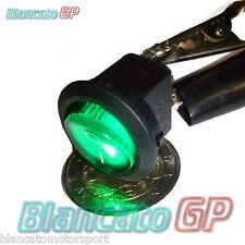 Interruttore a BILANCIERE Ovale Spia 12V DC Blu Auto Moto Camper Rocker Switch