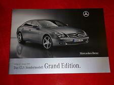 """MERCEDES C219 CLS-Klasse """"Grand Edition"""" Sondermodell Prospekt von 2009"""