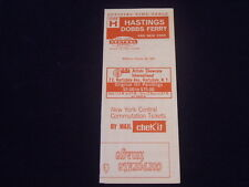 R637 1967 NEW YORK CENTRAL Railroad TIMETABLE Hastings