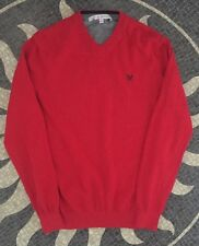 Crew Clothing Mens Gorgeous Red Jumper With Cashmere Size S. Good Condition.