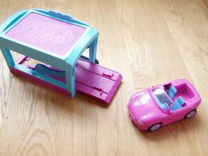 * Cooles, rosa Cabrio mit Garage Polly Pocket *