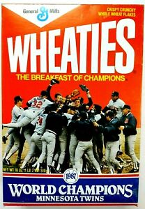 Wheaties 1987 Minnesota Twins World Champions Cereal Box