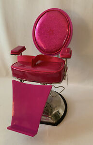 American Girl Doll Hair Salon Styling Chair Beauty Spa Adjustable Pink Shiny