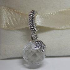 New Pandora Charm 791392CZ Clear Moon & Star Dangle slide Bead Box Included