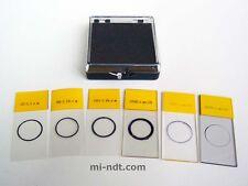 Set of 6 Coating Thickness Calibration Foil Standards