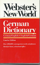 Webster's New World German English Concise Dictionary (1992, Paperback Book)