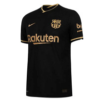 New Barcelona away football shirt Nike 2020/21 soccer jersey large - Black Gold