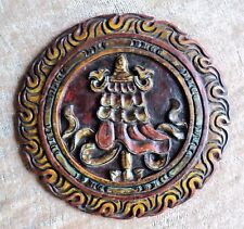 Victory Banner Tibetan Buddhist Auspicious Symbol Handcarved Wood from Nepal
