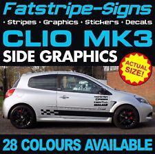RENAULT Clio MK3 Graphics Strisce Adesivi Decalcomanie 1.6 2.0 197 200 RS SPORT