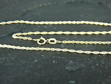"9ct Yellow Gold 6 Prince of Wales Rope Chain 16"" / 40cm, Lifetime Guarantee UK"