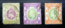 HONG KONG 1904 Ed.VII SG79, 85 & 86 Very Fine/Used NEW LOWER PRICE FP1931