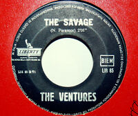 """THE VENTURES 45 GIRI THE CHASE 7"""" MADE IN  ITALY 1963  -  THE SAVAGE"""