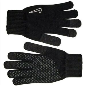 Nike ADULTS Tech Grip Genuine Stretchy Warm Knitted  Fit Gloves Size S- M-L XL