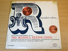 EX !! The Merrill Staton Choir/Remember When/1960 Epic LP + Booklet