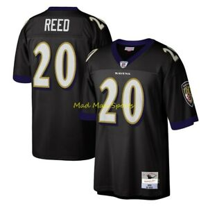 ED REED Baltimore RAVENS Black MITCHELL AND NESS Throwback LEGACY Jersey S-2XL