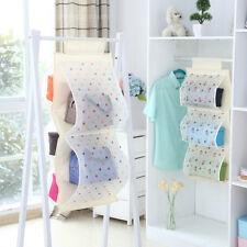 5 Pocket Closet Hanging Organizer Storage Bins For Purse Handbag Tote Bag Hanger
