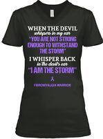 Fibromyalgia Storm (8903138) When The Devil BELLA+CANVAS Women's V-Neck Tee