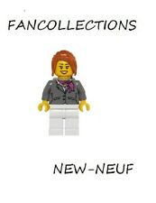 Lego-Dark Bluish Gray Jacket with Magenta Scarf, hol068  NEUF