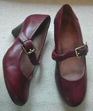 Clarks burgundy ladies shoes plaited buckle up strap high heel UK 3 E EU 36 wide