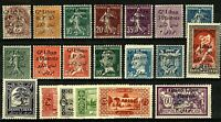 Lebanon 1924/5 range of issues to include '24 overprints on definitives M Stamps