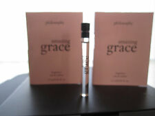 Lot of 2 Philosophy Amazing Grace Eau de Toilette Fragrance Sample .05 oz each