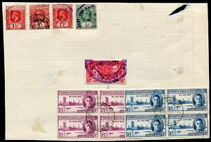 GILBERT & ELLICE (25026): KGV/KG6 postmark/cancels